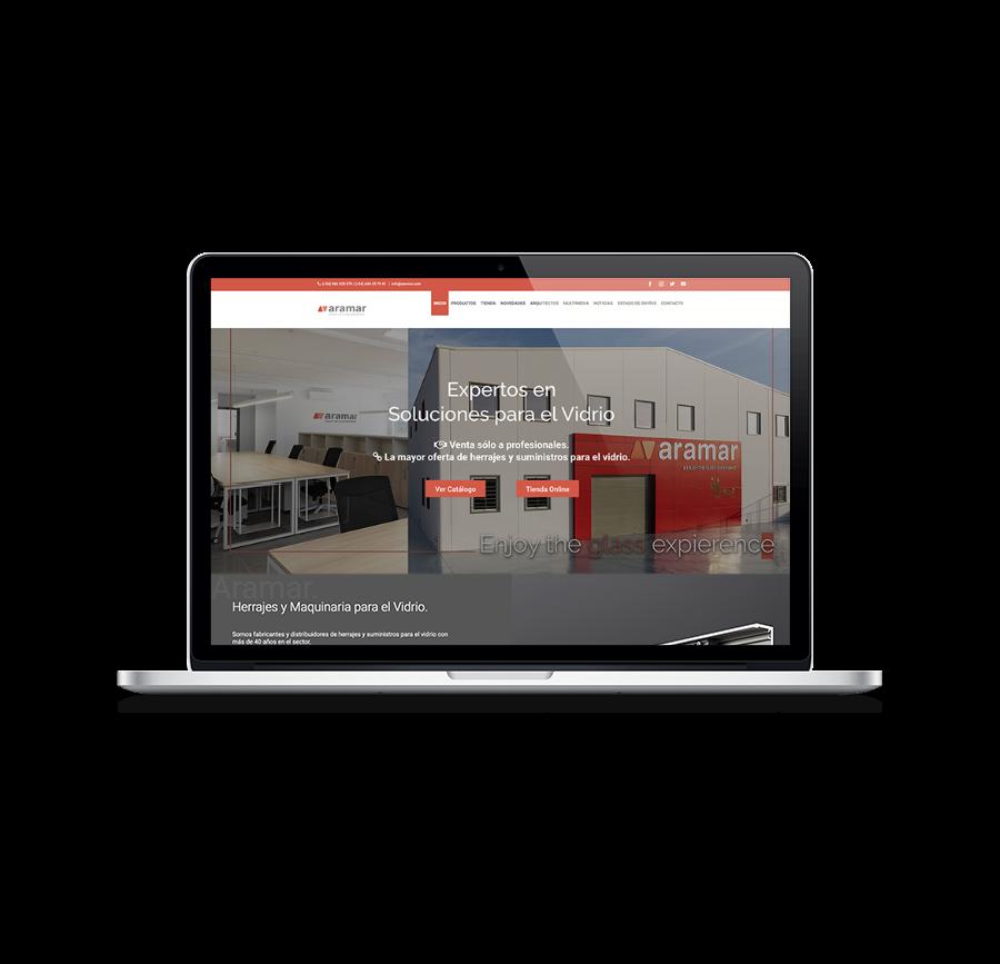 diseño web aramar