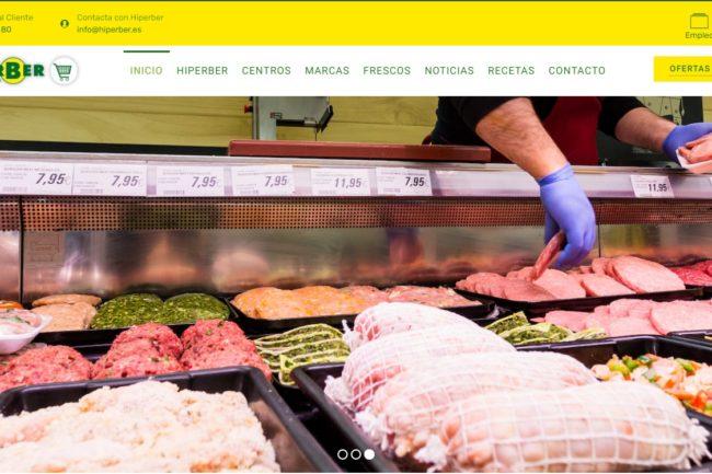 Página web de Hiperber, desarrollada por evol marketing®