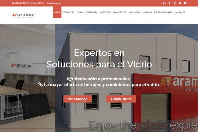 Página web de Aramar: Cliente de evol marketing®